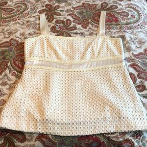 Lilly Pulitzer ivory eyelet top, size 8
